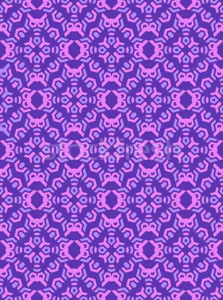 abstract geometric violet pink seamless pattern Stock photo © TRIKONA