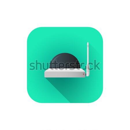 Vektor wifi megfigyelés kamera stílus színes Stock fotó © TRIKONA
