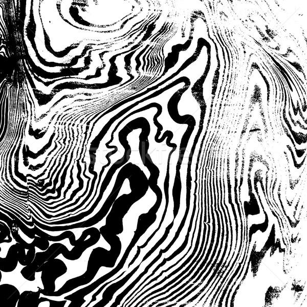 vector monochrome suminagashi abstract background Stock photo © TRIKONA