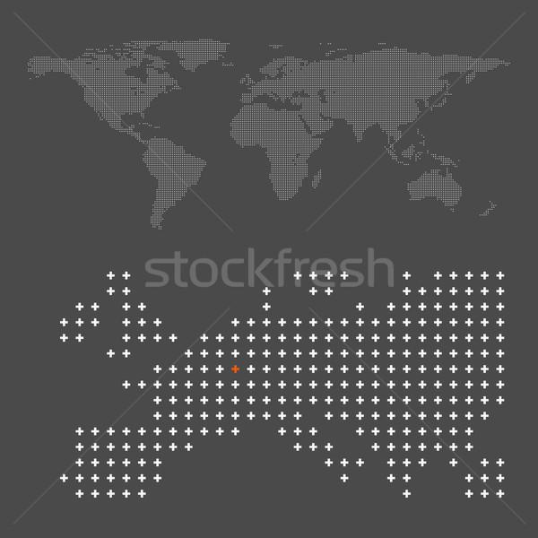 abstract crossing world map Stock photo © TRIKONA