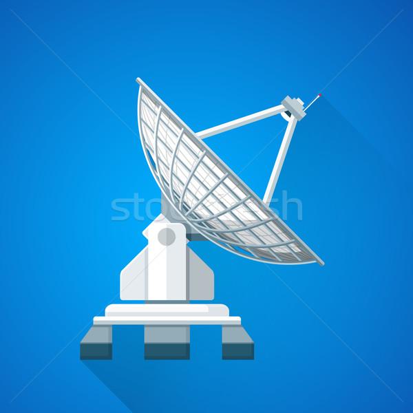 Colorido satélite plato antena ilustración vector Foto stock © TRIKONA