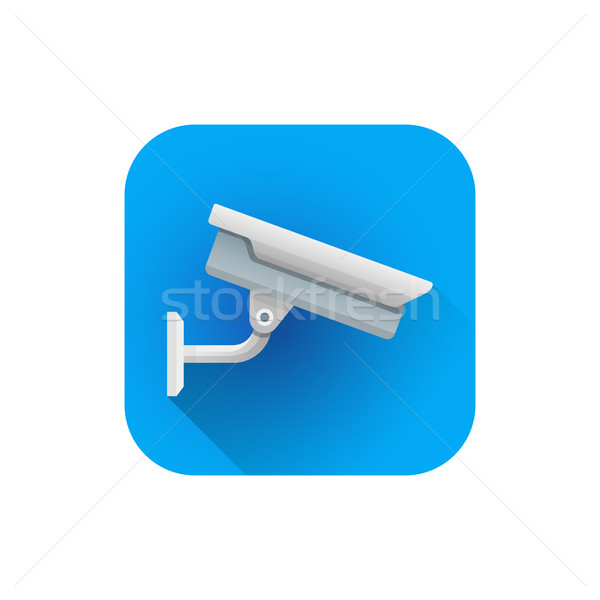 vector flat street surveillance camera