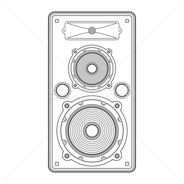 vector concert outline speaker Stock photo © TRIKONA