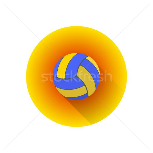 Vektor szín röplabda labda színes terv Stock fotó © TRIKONA