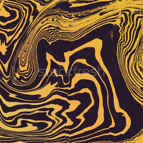 vector gold suminagashi abstract background Stock photo © TRIKONA