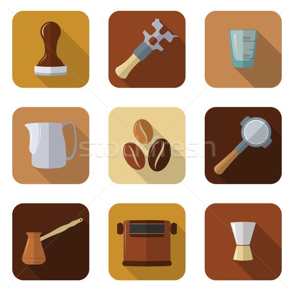 coffee barista instruments set Stock photo © TRIKONA
