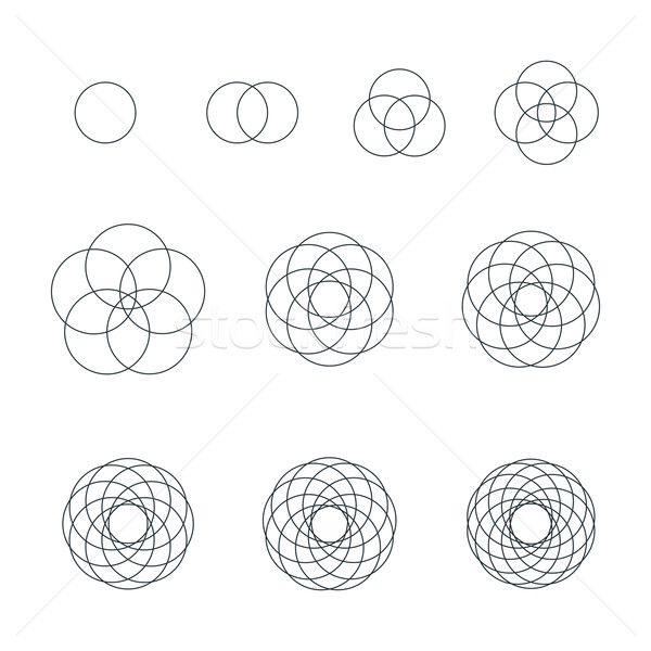 round contour various sacred geometry set