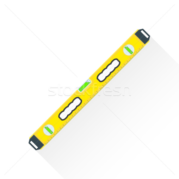 vector flat construction level illustration icon Stock photo © TRIKONA