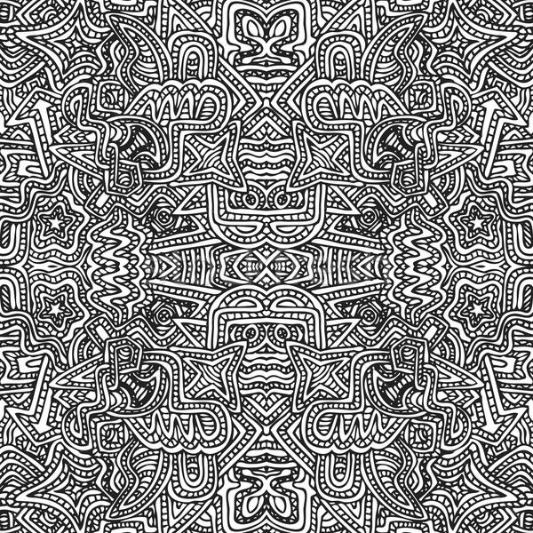 モノクロ 手描き 実例 ベクトル 黒 ストックフォト © TRIKONA