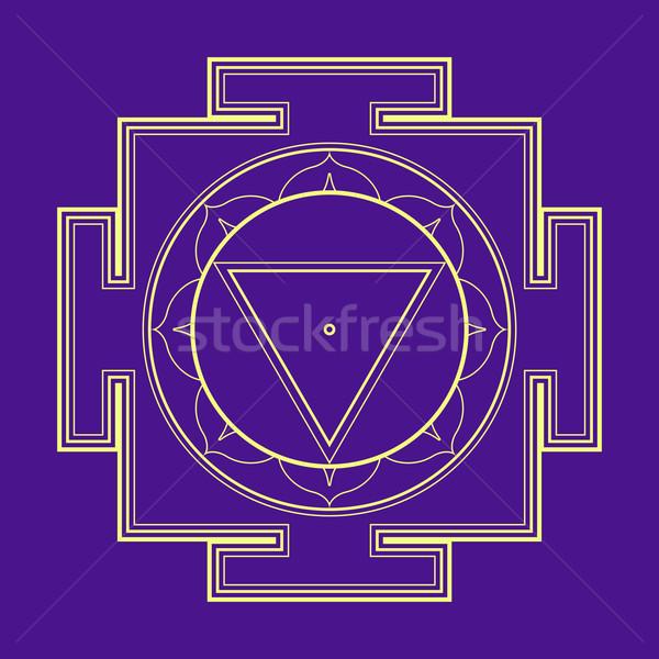 monocrome outline Tara yantra illustration Stock photo © TRIKONA