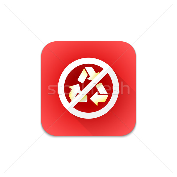 vector prohibited recycle sign icon