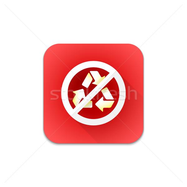 Foto stock: Vetor · proibido · reciclar · assinar · ícone · colorido