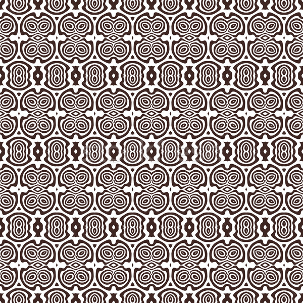 monochrome abstract vector seamless pattern