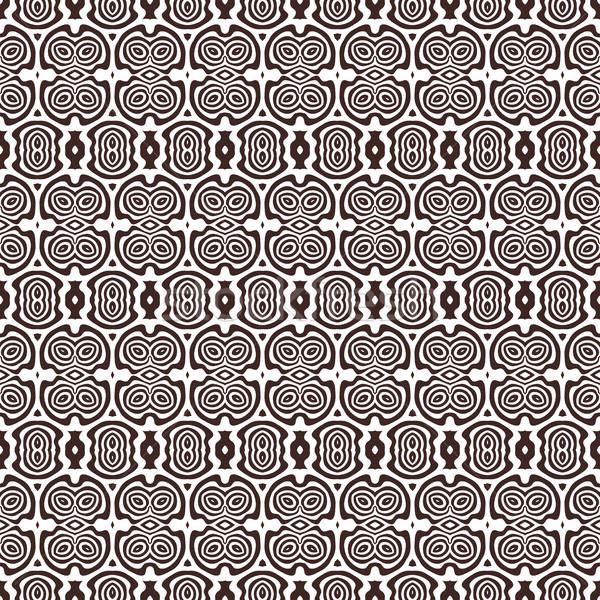 Monokróm absztrakt vektor végtelen minta barna szín Stock fotó © TRIKONA