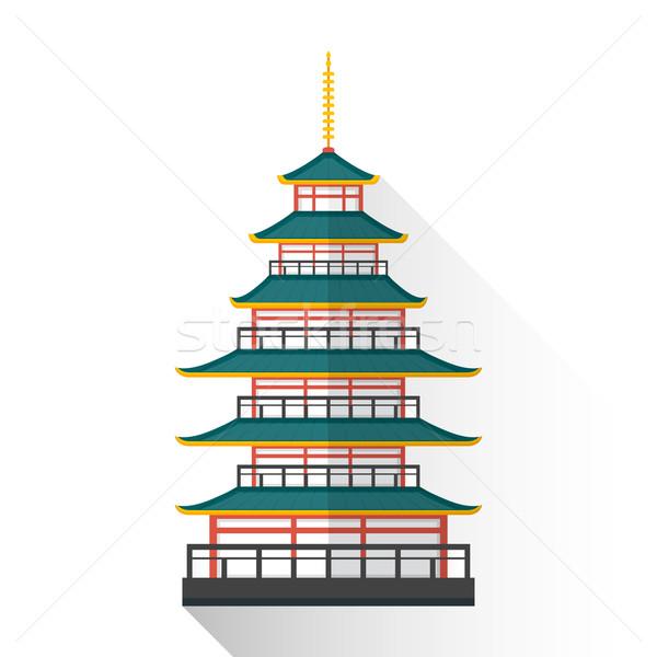 Vector Japón pagoda ilustración icono Foto stock © TRIKONA