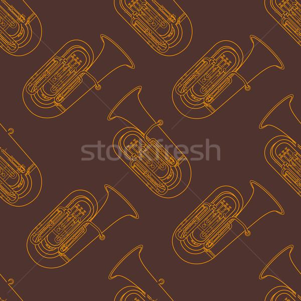 классическая музыка вектора монохромный оранжевый золото Сток-фото © TRIKONA