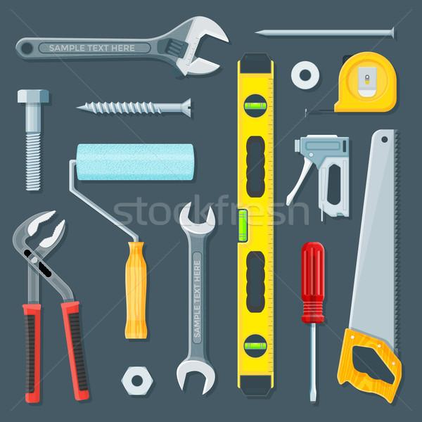 remodel construction tools illustration set Stock photo © TRIKONA