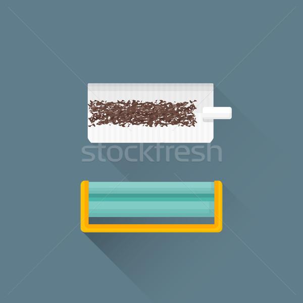 Vector tabaco cigarrillo máquina diseno Foto stock © TRIKONA