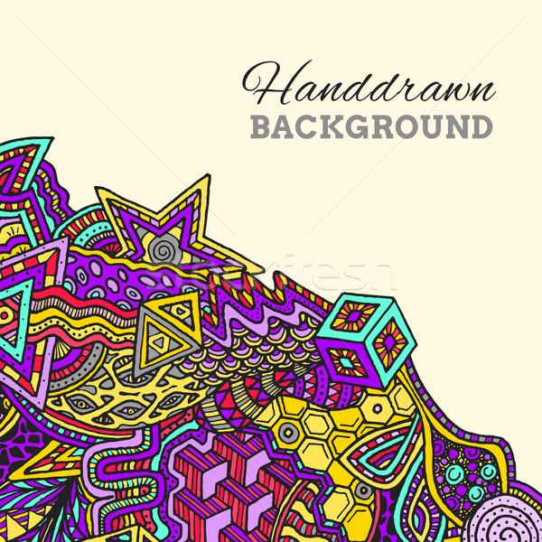 colored hand drawn background Stock photo © TRIKONA