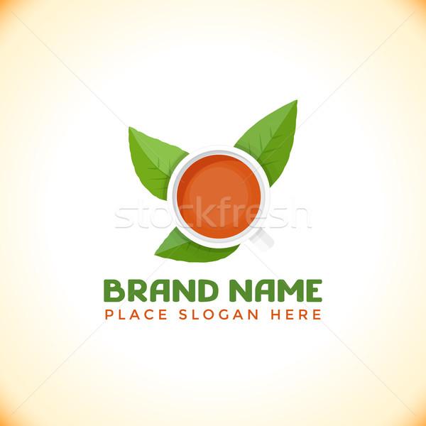 цвета чай логотип шаблон вектора красочный Сток-фото © TRIKONA