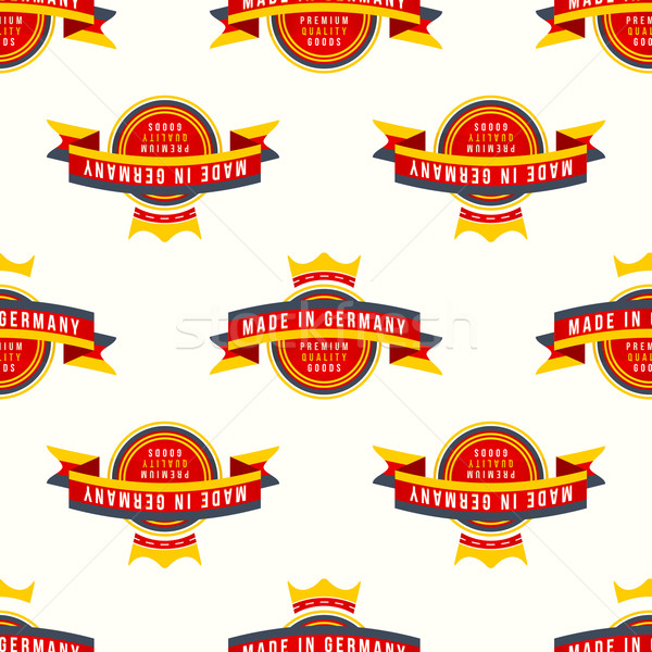 made in Germany banner seamless pattern