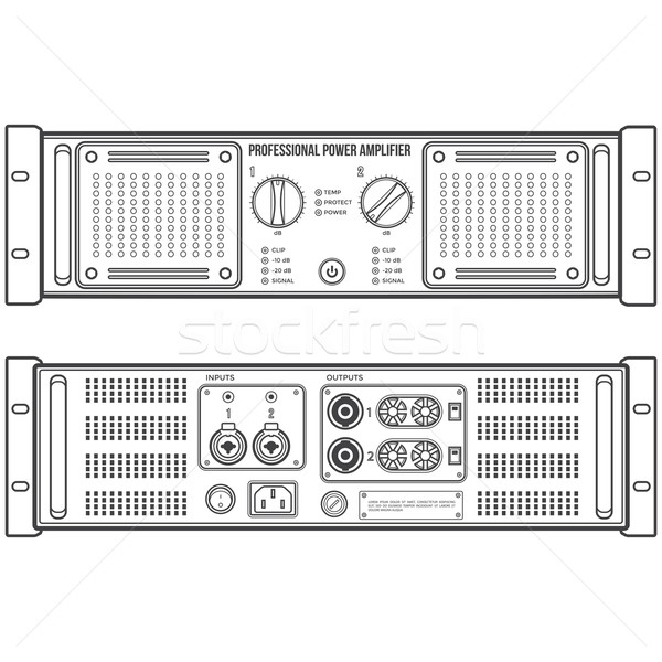 Orateur appareil vecteur monochrome stéréo Photo stock © TRIKONA