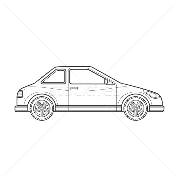 Schets coupe auto lichaam stijl illustratie Stockfoto © TRIKONA