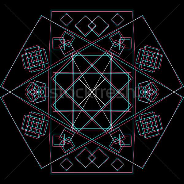 вектора аннотация геометрия украшение квадратный Сток-фото © TRIKONA
