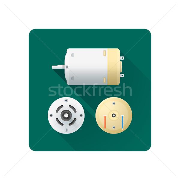 Vector eléctrica motor ilustración diseno Foto stock © TRIKONA