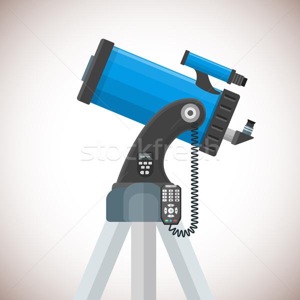 вектора телескопом иллюстрация красочный дизайна Объективы Сток-фото © TRIKONA