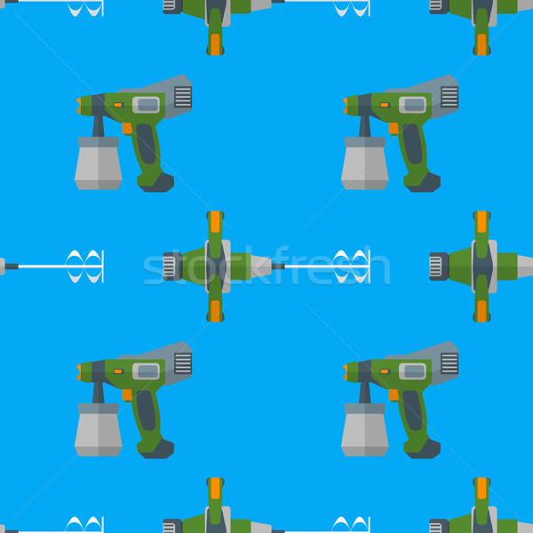 vector spray mixer seamless pattern Stock photo © TRIKONA