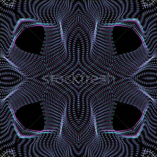 Foto stock: Superfície · forma · padrão · vetor · ondas · preto