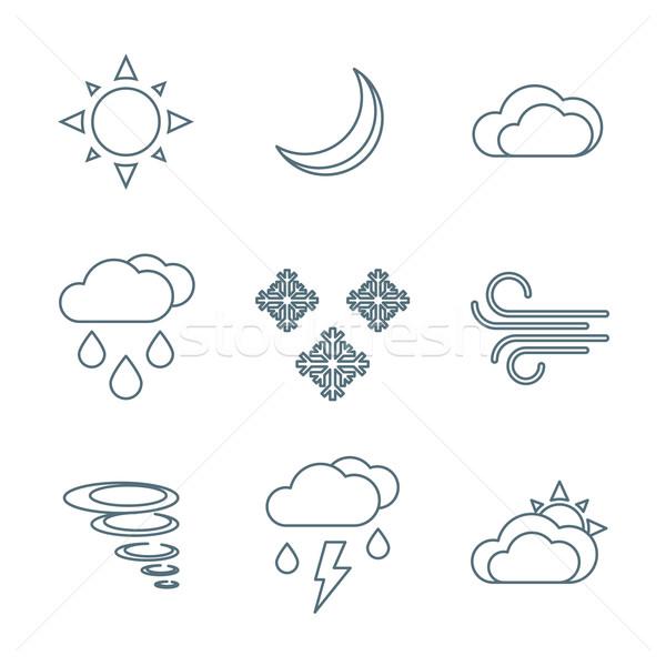 Oscuro tiempo pronóstico vector Foto stock © TRIKONA