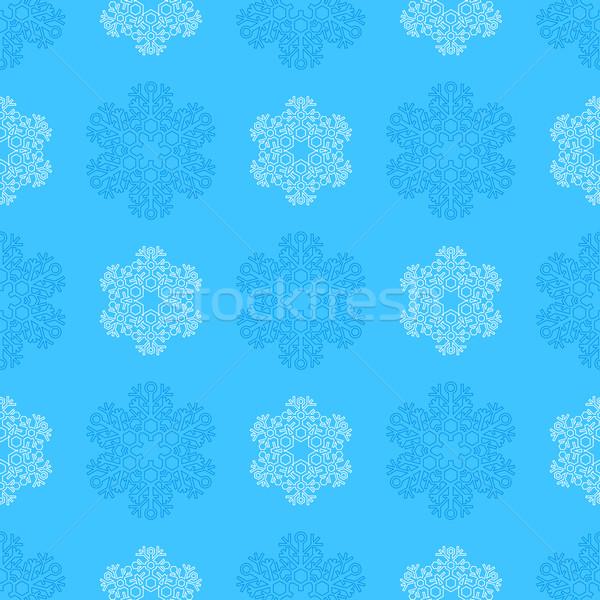 Płatki śniegu wektora kolorowy nowy rok Zdjęcia stock © TRIKONA