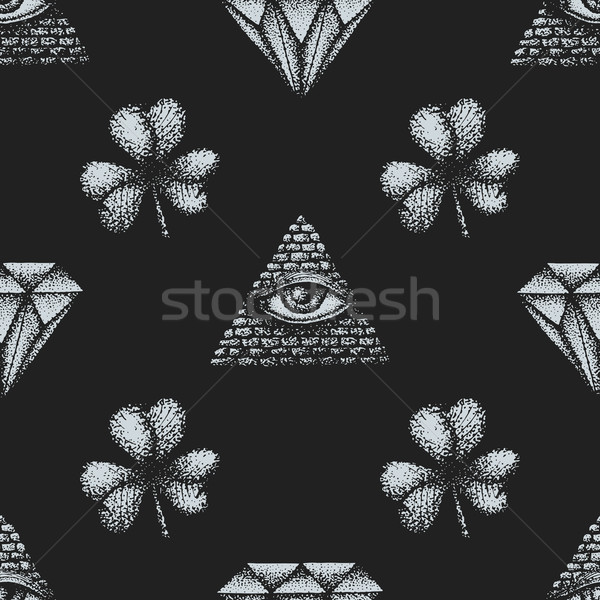 vector hand drawn engraving pattern Stock photo © TRIKONA