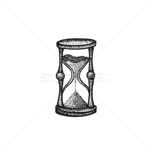 vector hand drawn sandglass illustration