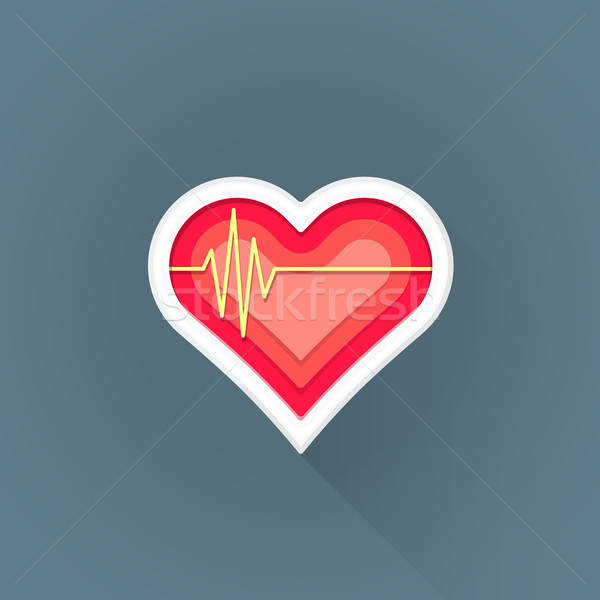 vector flat cardiac medicine symbol illustration icon