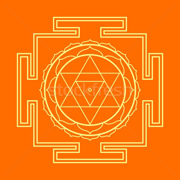 Ilustracja wektora złota hinduizm Zdjęcia stock © TRIKONA