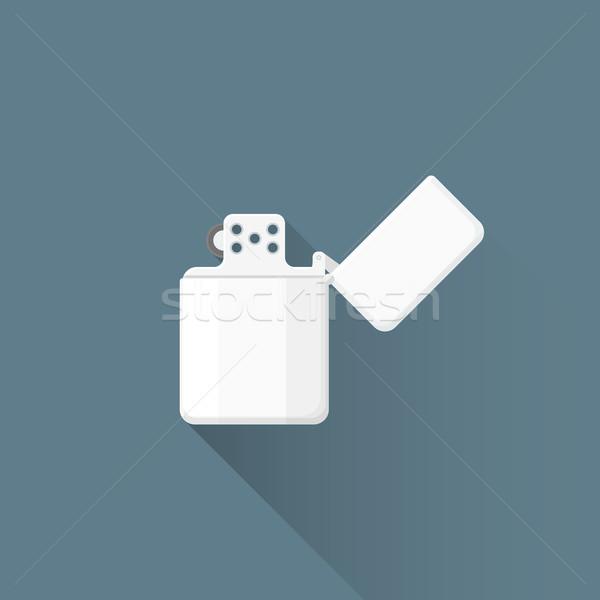 Wektora benzyny zapalniczka ilustracja ikona kolorowy Zdjęcia stock © TRIKONA