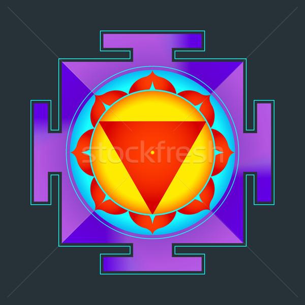 Colorat ilustrare vector hinduism diagramă Imagine de stoc © TRIKONA