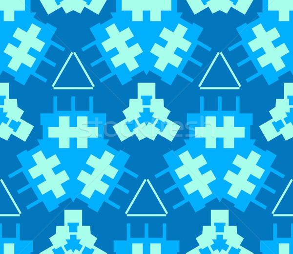 синий cyan светло-зеленый цвета аннотация геометрический Сток-фото © TRIKONA