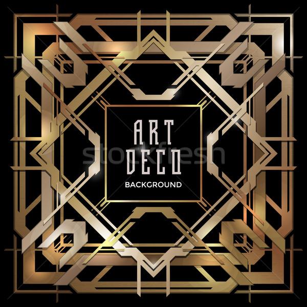Abstract koper art deco stijl vector Stockfoto © TRIKONA