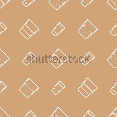 outline whiskey vodka glasses seamless pattern