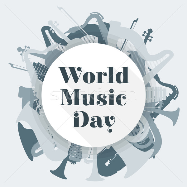abstract light colored international music day poster illustrati Stock photo © TRIKONA