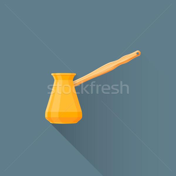 vector flat coffee turk illustration icon Stock photo © TRIKONA