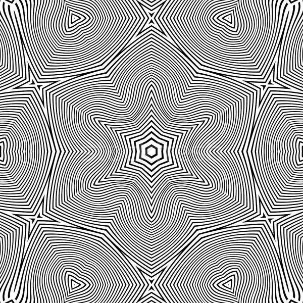 optical art abstract star seamless deco pattern Stock photo © TRIKONA