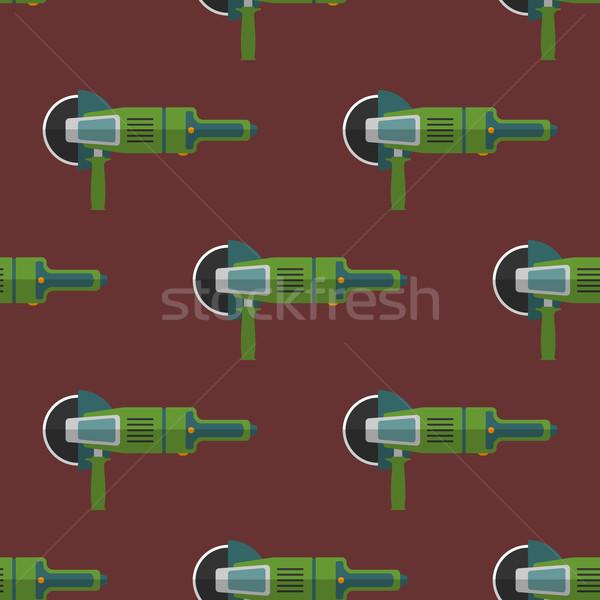 vector angle grinder seamless pattern Stock photo © TRIKONA