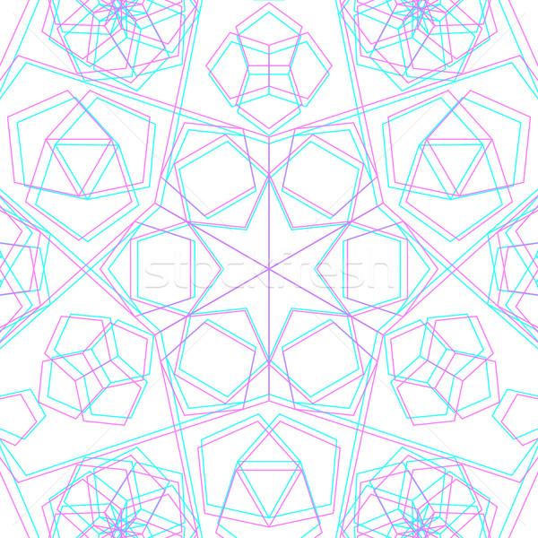 вектора аннотация геометрия украшение пятиугольник Сток-фото © TRIKONA
