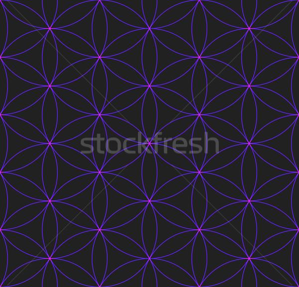 Fleur vie sacré géométrie modèle Photo stock © TRIKONA