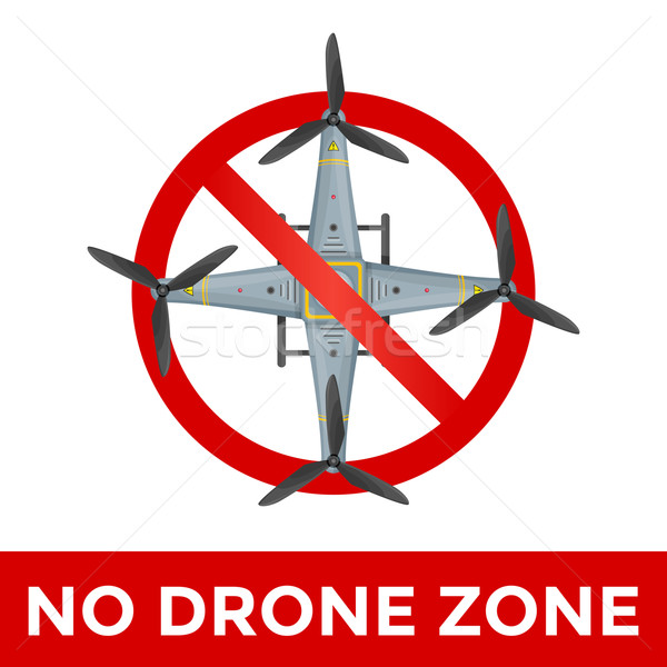 vector drone prohibited sign illustration